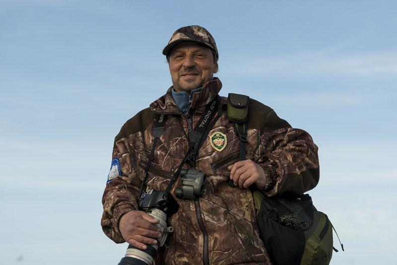 Игорь Олейников, старший государственный инспектор в области охраны окружающей среды государственного природного заповедника «Остров Врангеля»