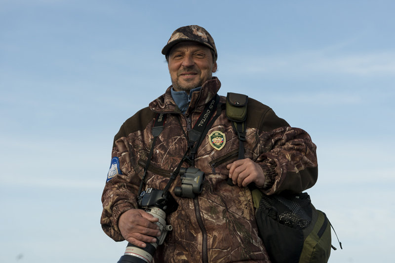 Igor Oleinikov, senior state environmental protection inspector at the Wrangel Island Nature Reserve