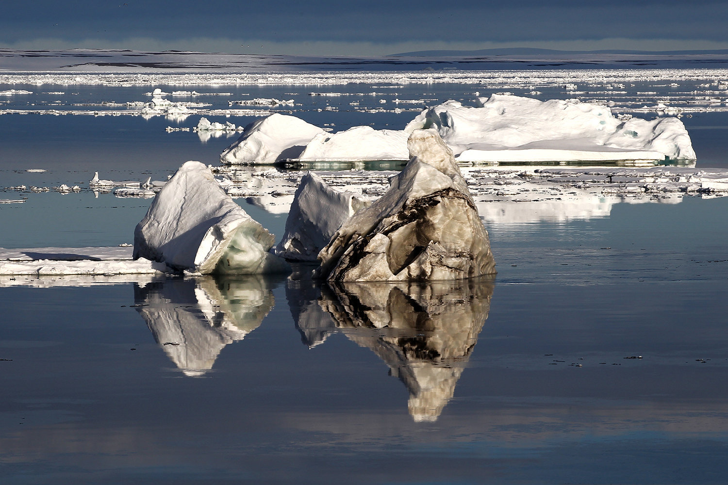 An iceberg in the waters of the Franz Josef Land Archipelago