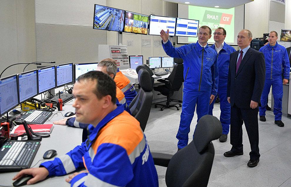 Yamal LNG loads its first cargo with Putin present