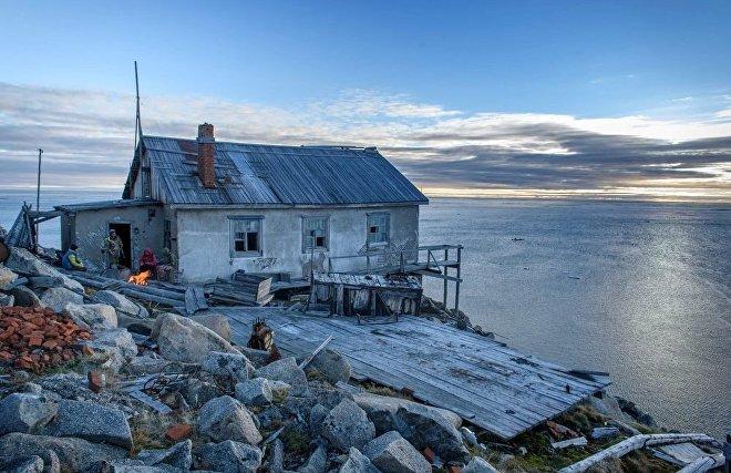 Tumannaya Meteostation on Cape Shelgasky of the northernmost point of Chukotka