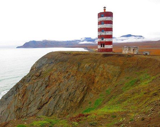 Берингово море. Наваринский маяк. Самое штормовое место в России