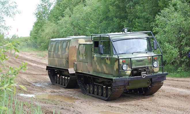 New GAZ-3344-20 Aleut amphibious articulated all-terrain vehicles