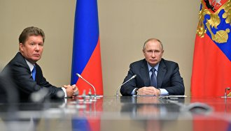 Vladimir Putin congratulates Gazprom on its 25th anniversary