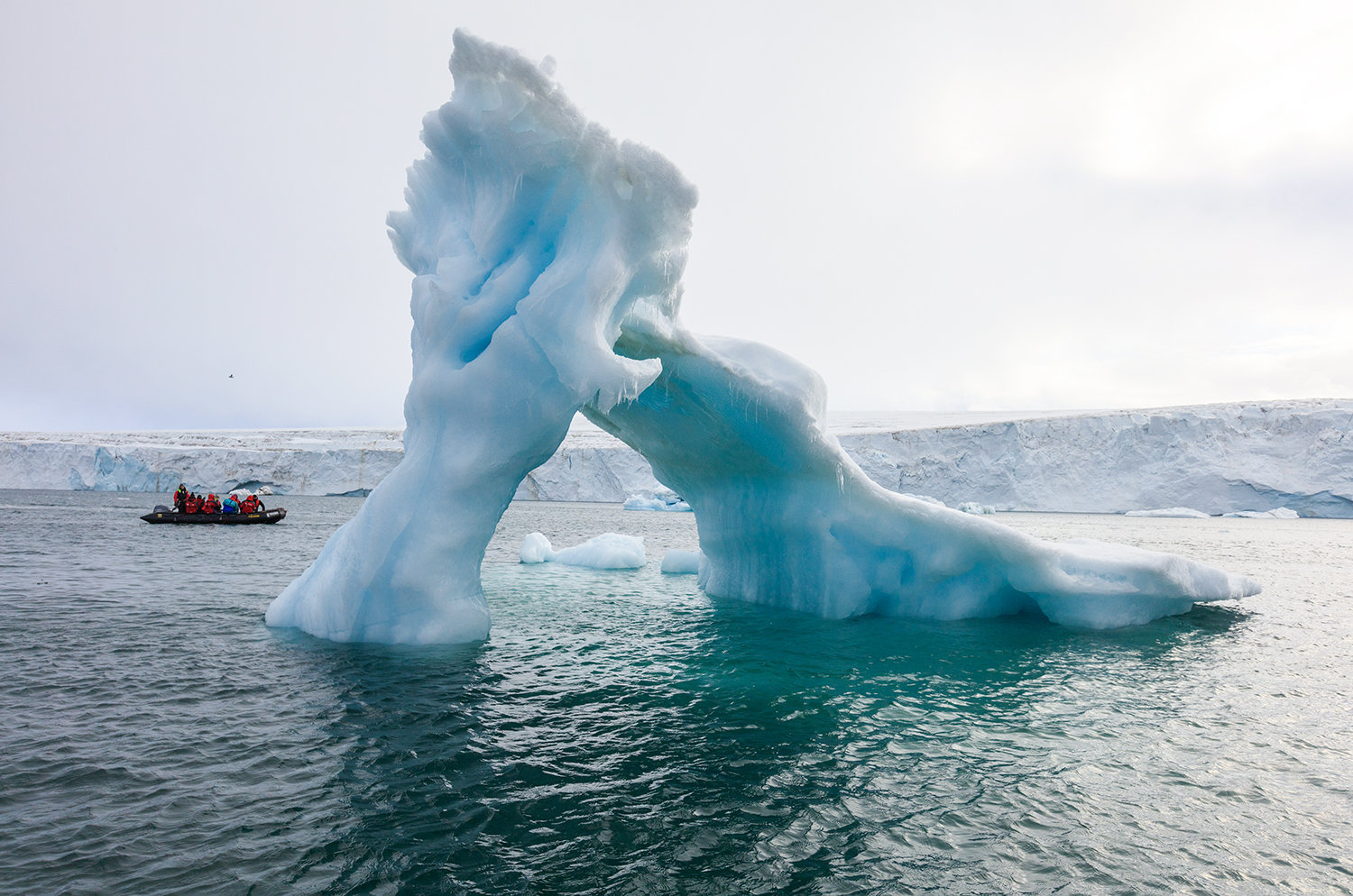 An iceberg near Russian Arctic National Park on Franz Josef Land