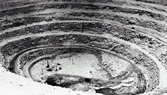 Карьер, разрабатывающий одну из алмазных трубок Якутии