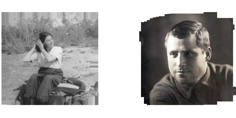 Слева: Н.Н.Сарсадских, 1953 г.; справа: М.Ф.Шестопалов
