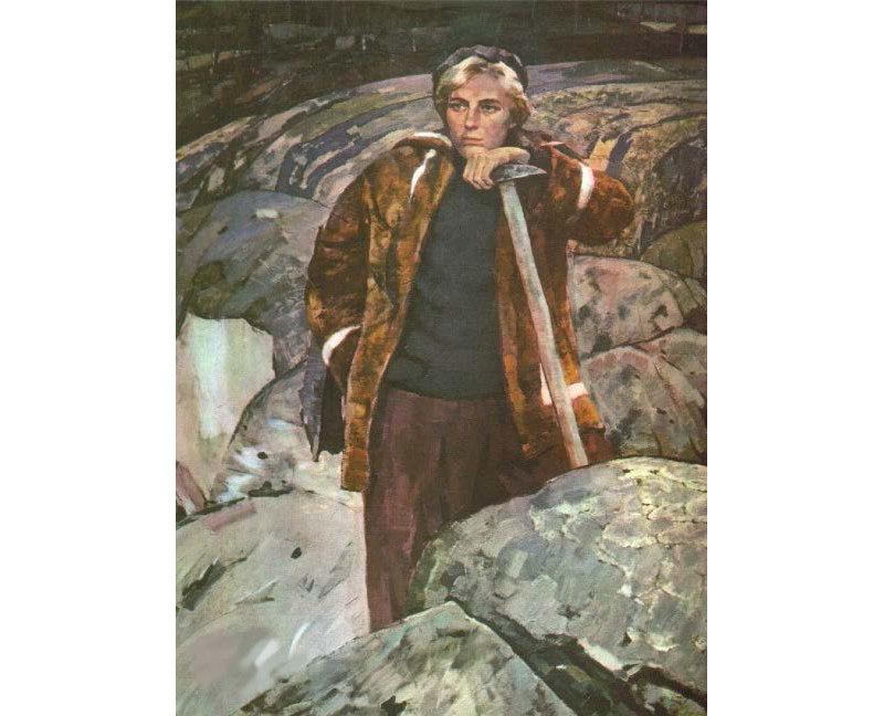 Larisa Popugayeva (portrait by Boris Korneyev)