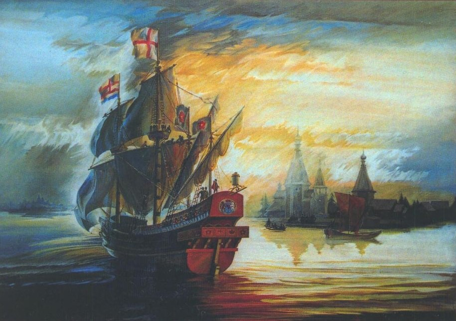 A painting by artist Martynov from the Severodvinsk Museum