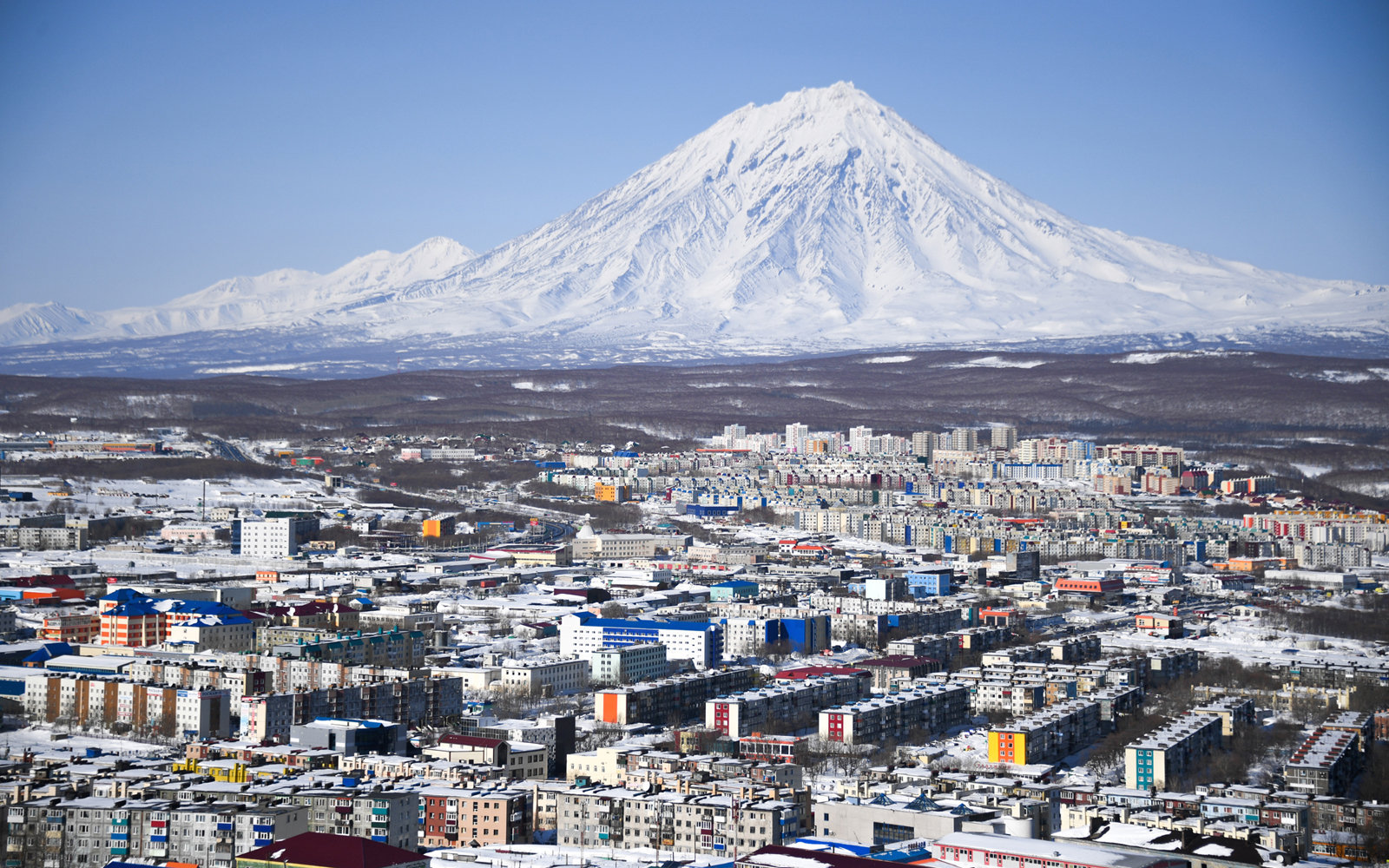 The city of Petropavlovsk-Kamchatsky from Mishennaya Sopka