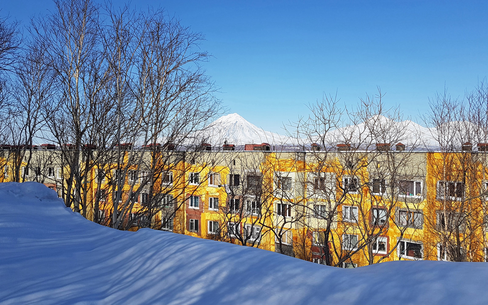 Residential buildings in Petropavlovsk-Kamchatsky