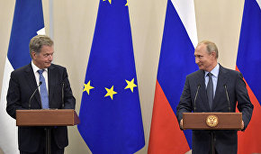 Russian and Finnish presidents discuss the Arctic