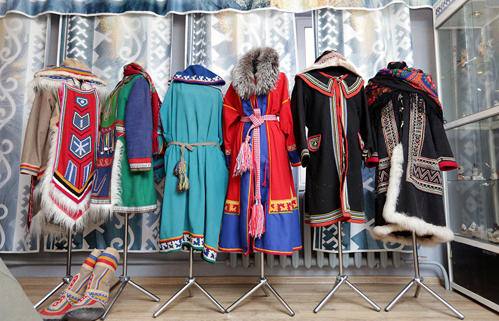 Clothes of indigenous northern people