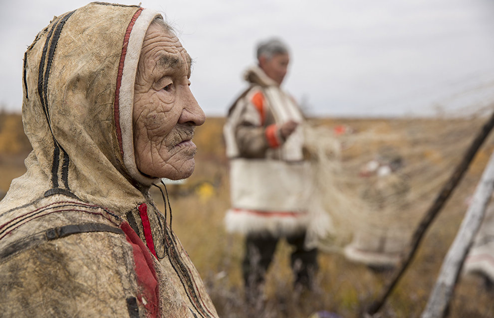 Нганасанский заслуженный оленевод. Хатанга, Таймыр