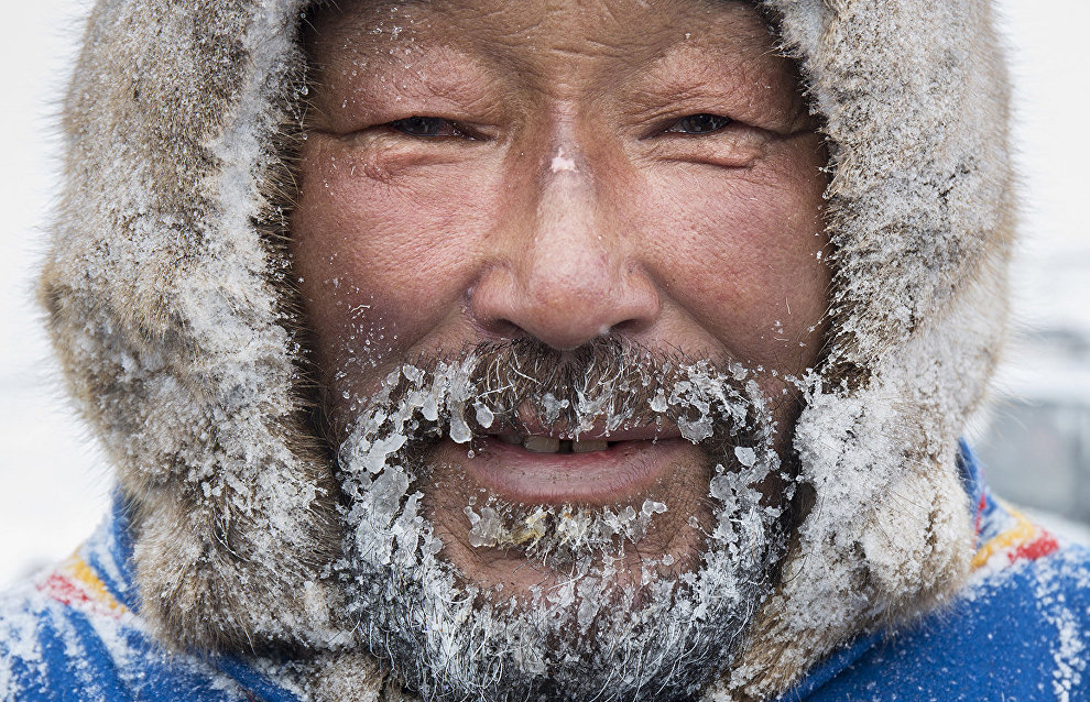 A Nenets man, the winner of the race on Reindeer Herders' Day. The village of Tukhard, Taimyr