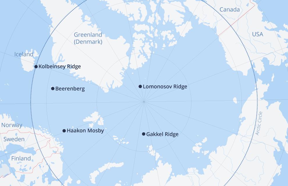 Arctic volcanos