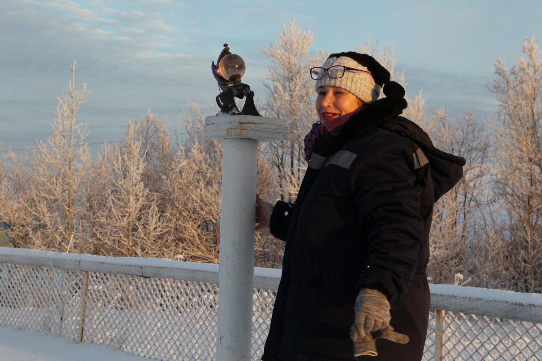 Nina Otkupshchikova, senior engineer at the M 2 station, Arkhangelsk