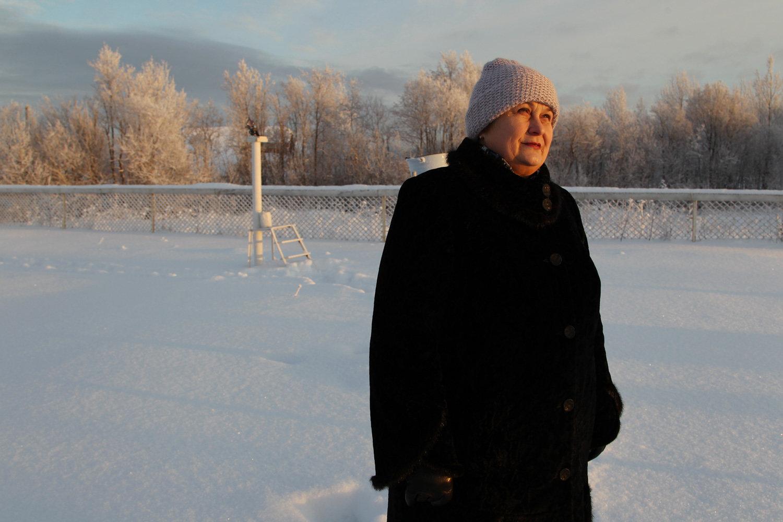 Lyubov Isupova, head of the weather station in Arkhangelsk
