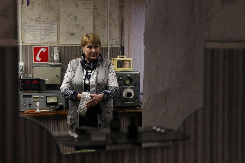 Lyubov Isupova at the station