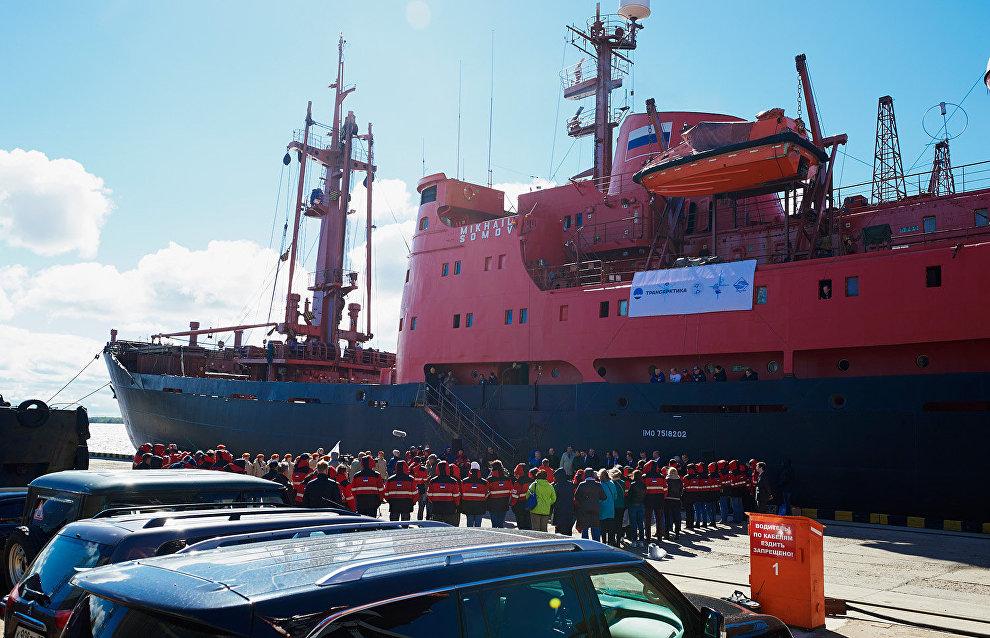 НЭС «Михаил Сомов» было построено в 1975 году, оно приняло участие в десятке антарктических и арктических экспедиций
