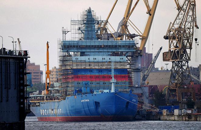 Construction of Rossiya nuclear icebreaker begins