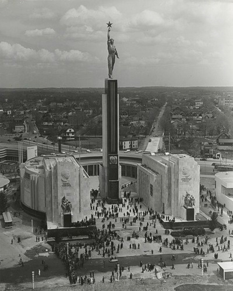 The Soviet pavilion at the World's Fair. 1939, New York City