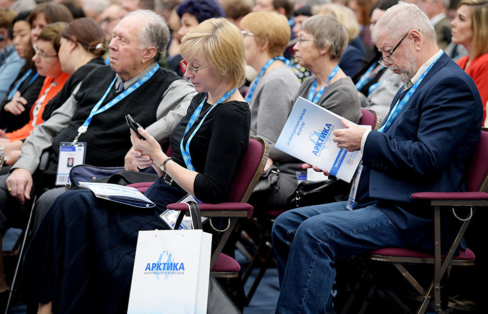Participants in the 9th International Forum The Arctic: Today and the Future, in St. Petersburg