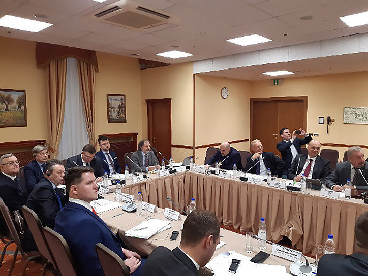 International experts and representatives of the Russian federal executive authorities discuss the effort to develop the INS/2013/MC.04/13 project concerning the submersed facilities at a final conference in Moscow