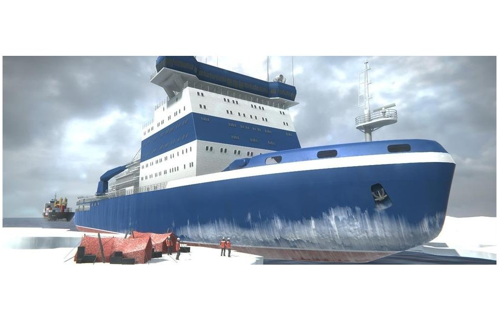 RIA Novosti's AR rendering of the icebreaker Arktika