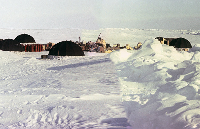 Полярники советской дрейфующей научной станции «Северный полюс - 11»