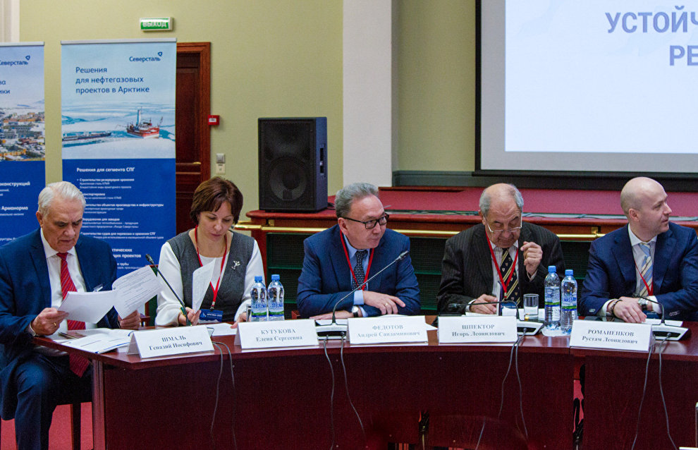 Участники V Международной конференции «Арктика-2020» на пленарной сессии «Устойчивое развитие арктических регионов — задачи и пути»