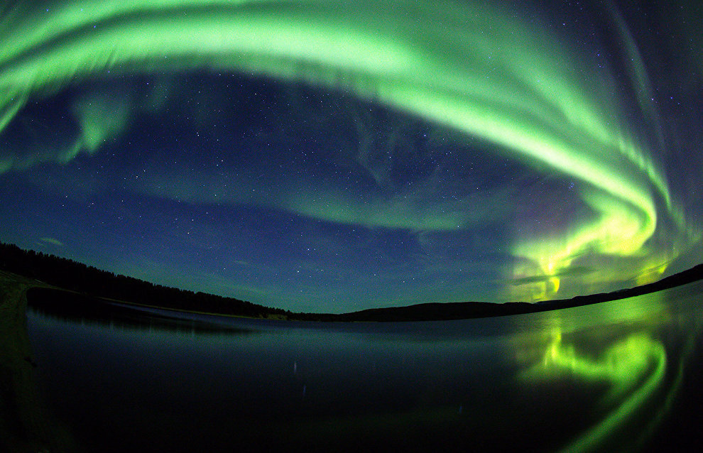 Northern lights begin to appear in the Murmansk Region in late August, when a polar day is coming to an end and the nights are getting darker