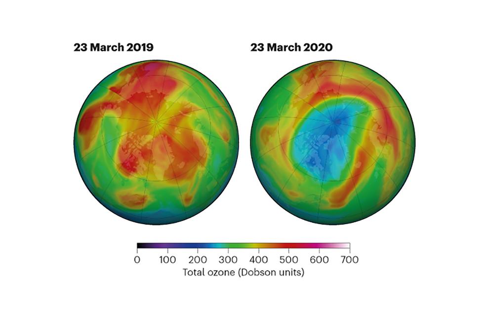 Huge ozone hole opens in Arctic skies