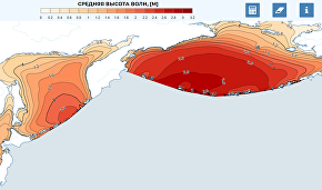 Web-atlas interface of available wave energy in Russian seas