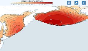 Интерфейс веб-атласа доступной волновой энергии морей России