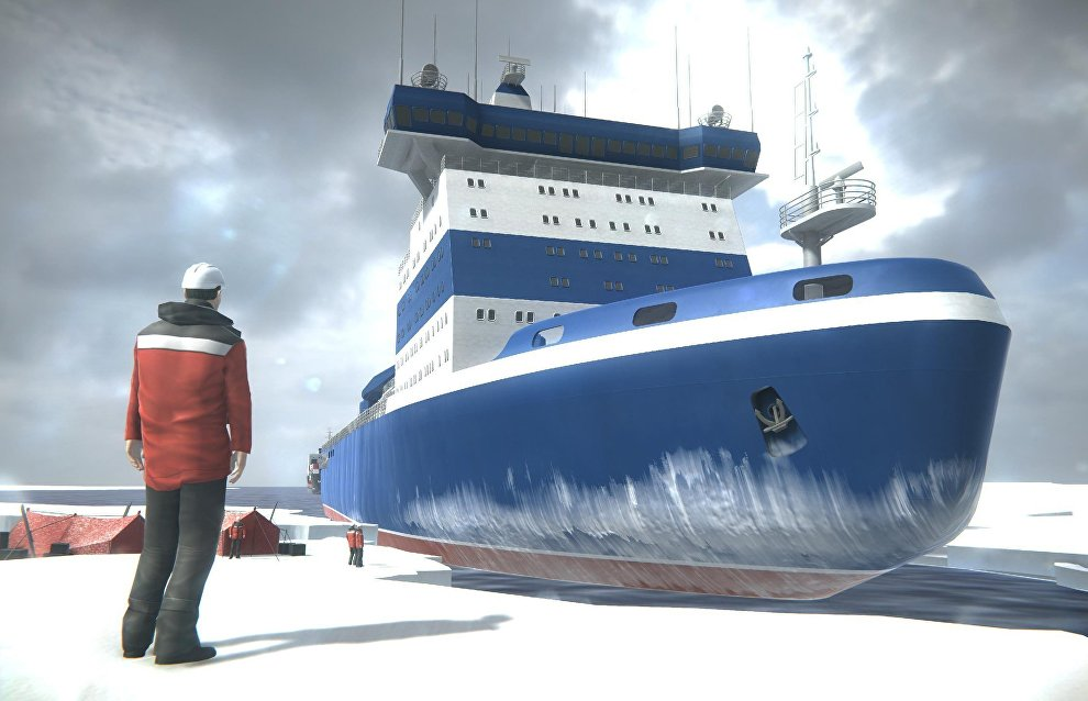 Arktika icebreaker AR project vies for Two Poles Award