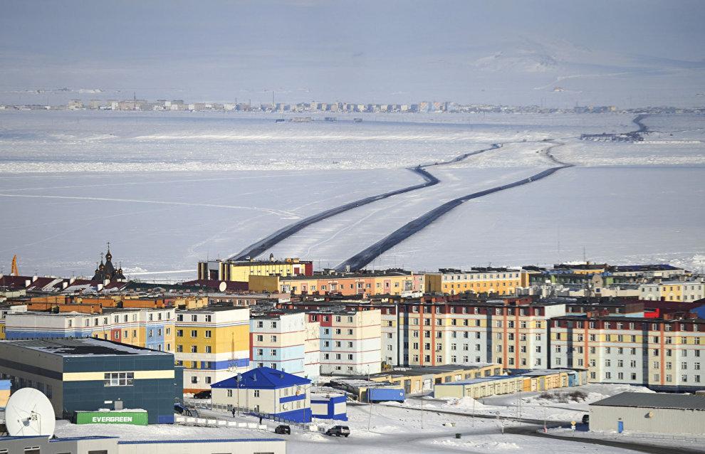 Aerial lift bridge to span Anadyr Estuary in Chukotka