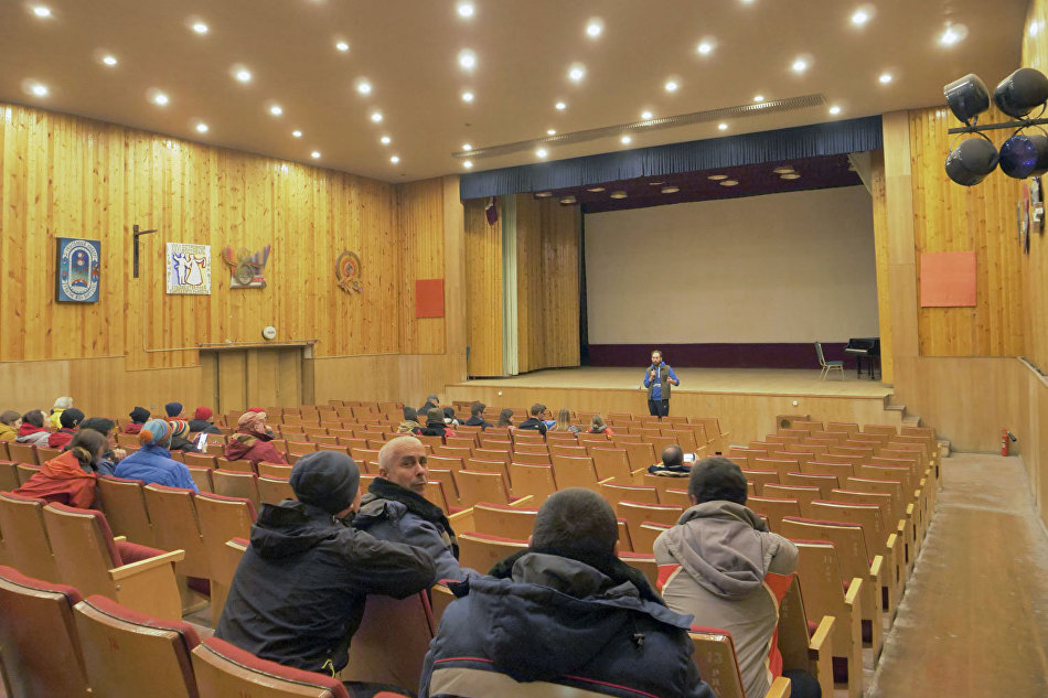 The auditorium of the restored movie theater