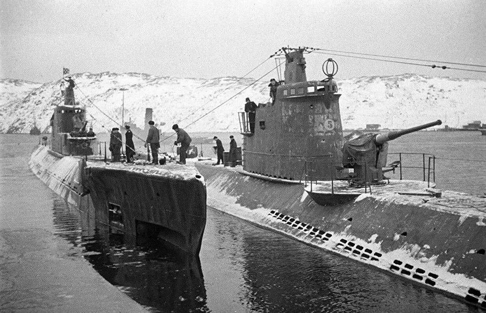 A submarine base in Polyarny. The Northern Fleet