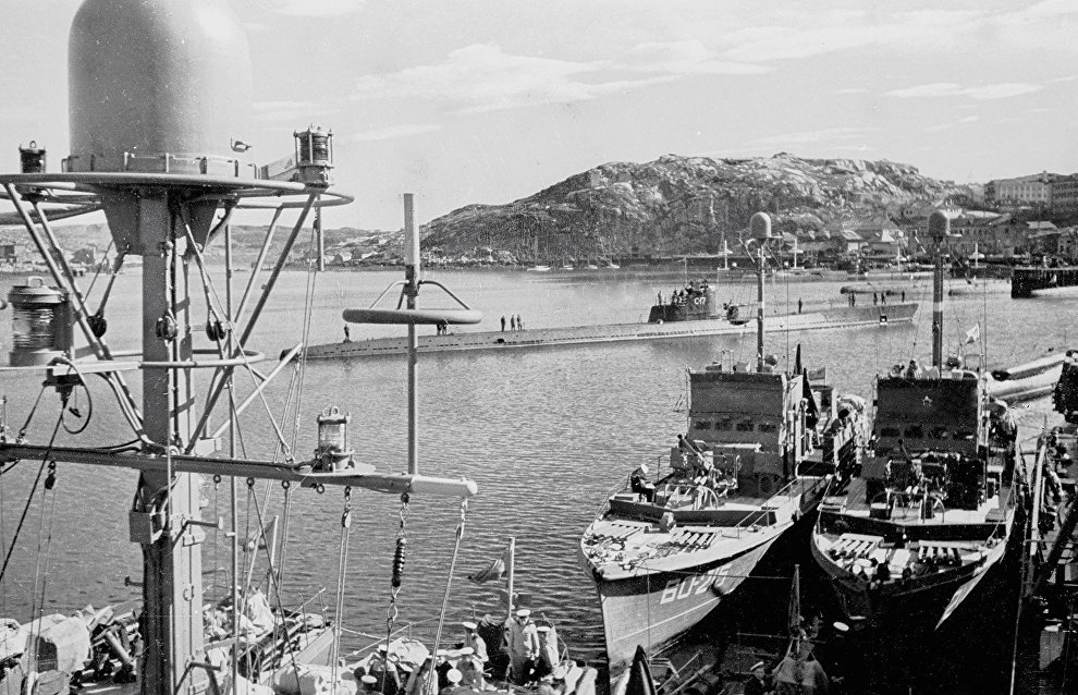 Ships of the Northern Fleet at the base
