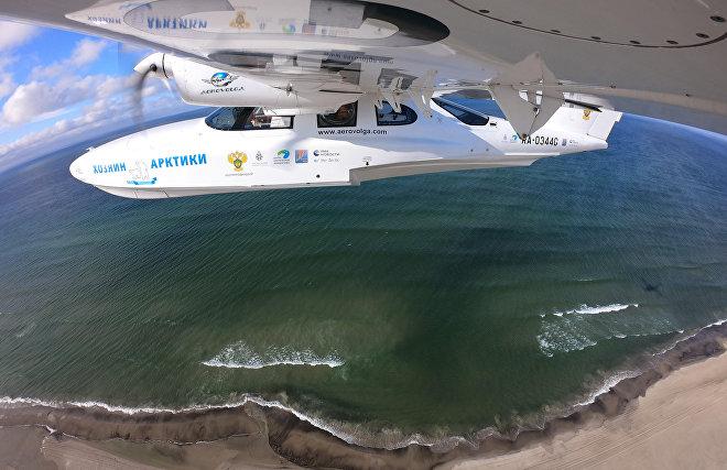 Completing aerial survey of polar bear population
